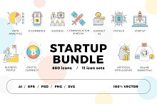 800+ Startup Icons Bundle by  in Icons