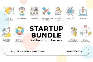 800+ Startup Icons Bundle