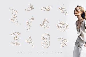 Hands Logo Flat