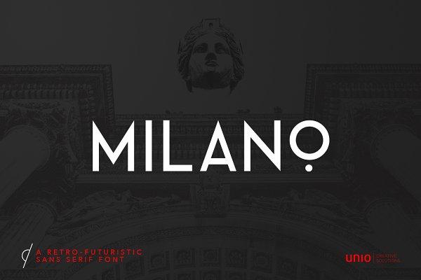 Fonts: Unio | Creative Solutions - Milano - RetroFuturistic Sans