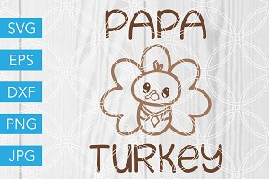 Papa Turkey Cut File