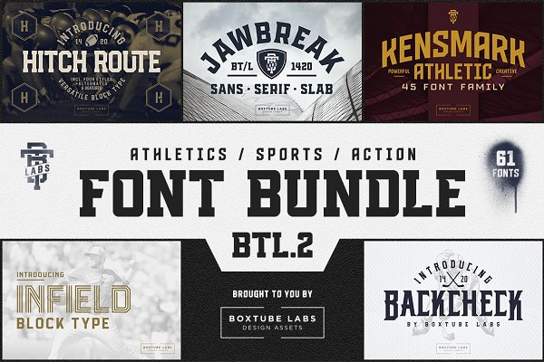 Sports Font Bundle BTL.2