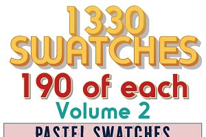 1330 Swatches 190 ea of 7 categories