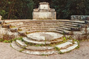 Ancient amphitheater in the Pavlovsk
