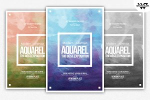 AQUARELLE Paint Flyer Template