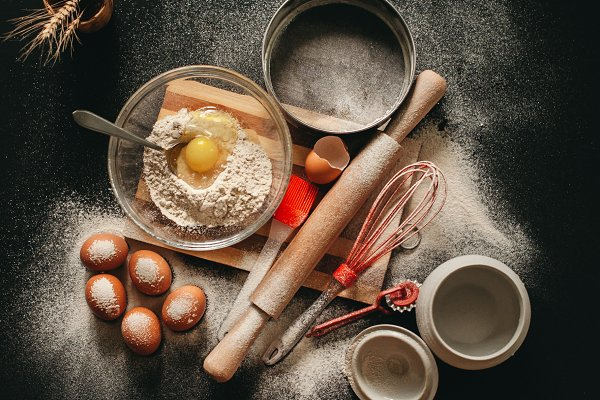 Food Stock Photos - The concept of baking at home