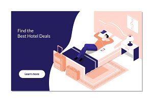 Man Booking Hotel Reservation on