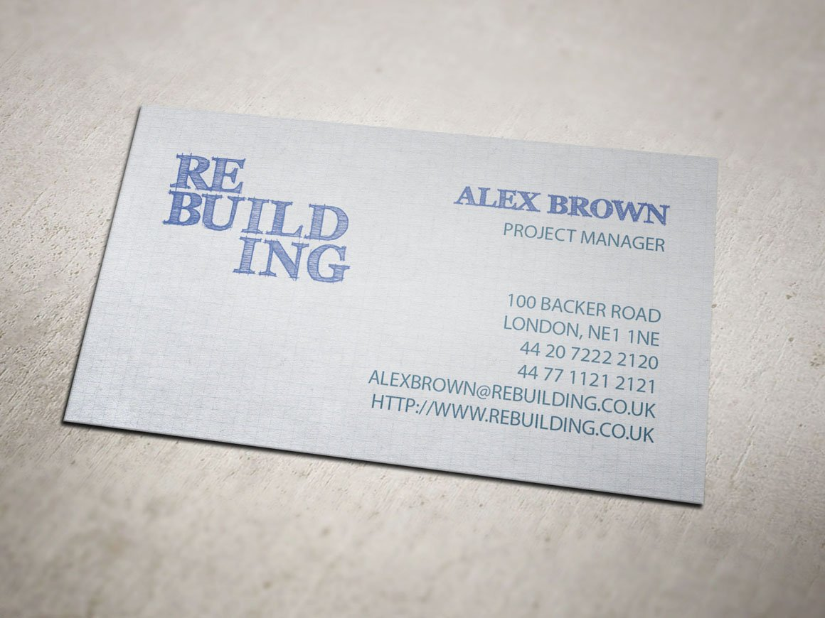 Building Firm Business Card ~ Business Card Templates ~ Creative ...