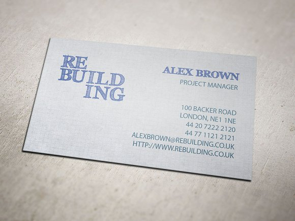 Building Firm Business Card Business Card Templates Creative - Business card template uk