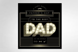 father's day template vector