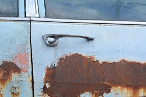 Texture of colored rust metal on an