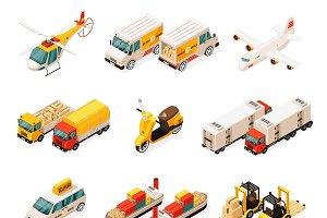 Isometric Transportation Elements