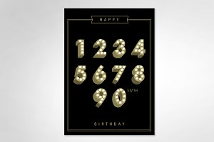 lightbulb number birthday template