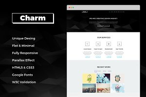 Charm - Responsive One Page Template