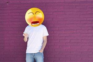 Sad emoji head man