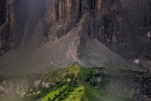 Mountains above Val Gardena mountain