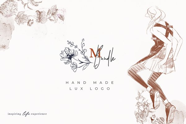 Logo Templates: The Everlasting Story - Logos Bundle. Modern Flora.