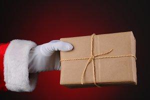 Santa Holding a Parcel