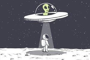 an alien abducts an astronaut