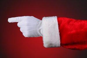 Santa Claus Hand Pointing