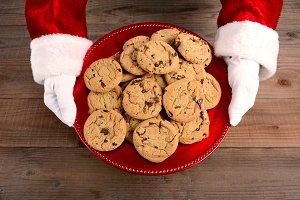 Santa Serving Cookies