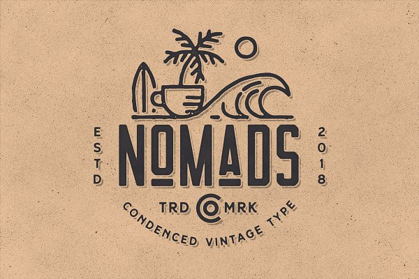 Sans Serif Fonts: NEWFLIX.Bro - Nomads -The Farmer Original Typeface