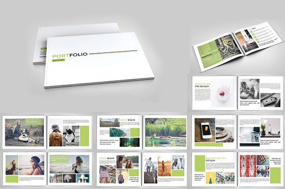 indesign portfolio brochure v127 brochure templates creative market. Black Bedroom Furniture Sets. Home Design Ideas