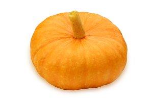 Orange pumpkin isolated on white bac