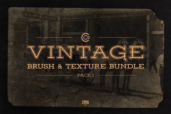 Vintage Brush & Texture Bundle Pack