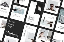 Minimal Social Media Pack by  in Social Media