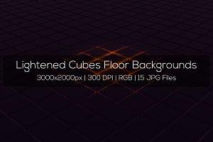 Lightened Cubes Floor Backgrounds