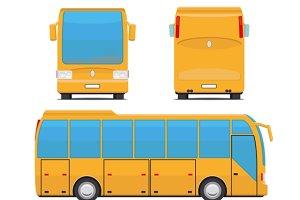 Yellow bus vector illustration