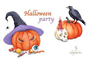 Halloween watercolour illustration