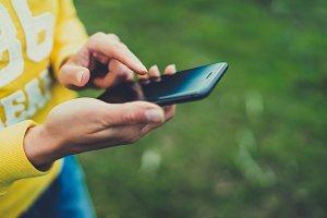 Smartphone closeup