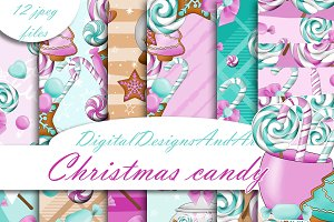 Christmas candy in pink