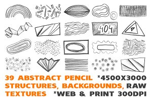 39 Pencil design elements