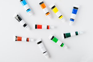 Colourful Paint Tubes
