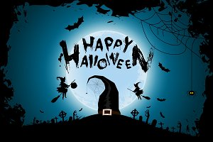 Halloween Funny Background with