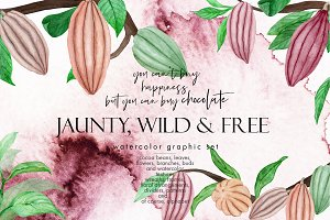 Jaunty, Wild & Free - Watercolor Set