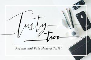TastyTwo, Modern Script Typeface