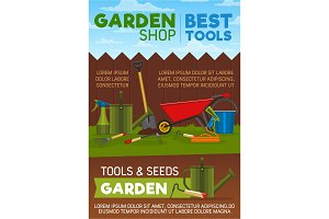 Gardening tools, items and equipment