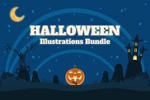 Halloween Illustrations Bundle