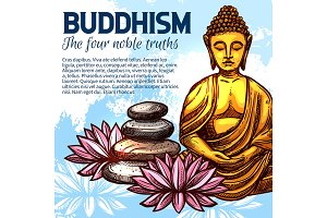 Buddhism religion Buddha and lotus