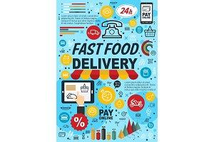 Fast food online order infographics