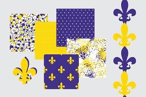 Fleur de Lis and Dots Patterns