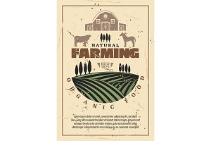 Organic farm agriculture poster