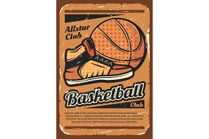 Basketball team sport with ball