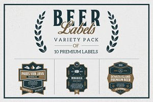 Premium Beer Labels