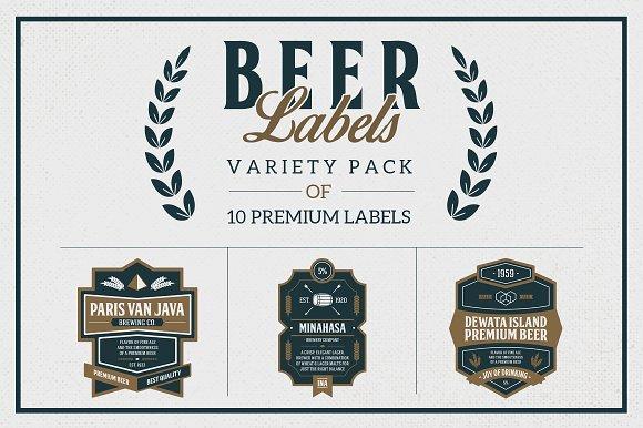 premium beer labels logo templates on creative market. Black Bedroom Furniture Sets. Home Design Ideas