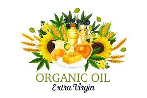 Organic oil with natural food